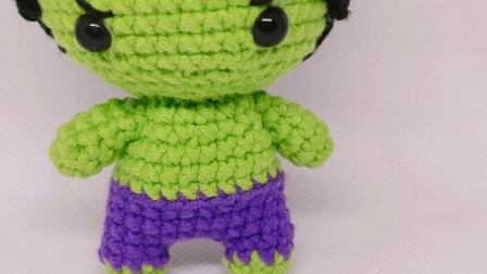 赤赤妈咪手工坊  英雄系列绿巨人的钩织教程