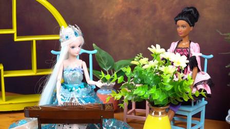 叶罗丽玩具故事:曼多拉偷偷给鲜花施加魔法,让仆人送给冰公主