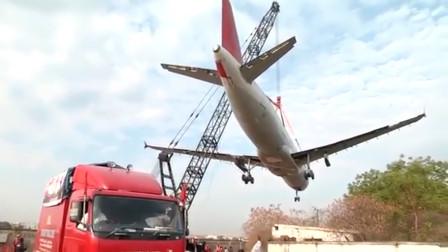 """用吊车吊飞机?印度人""""开挂""""又出新高度,下一秒意外发生"""