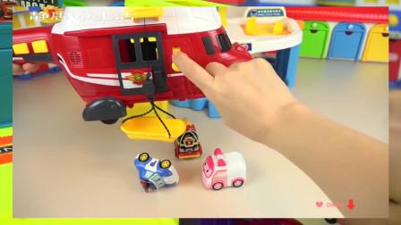 宝宝玩具 玩偶Robocar Poli car toys and block toys play