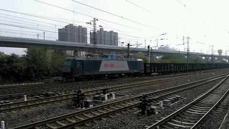 HXD3CA 8248货列下咸铜线,进咸阳站