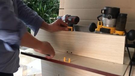 隐形连接件打孔-实木家具木销-木榫孔
