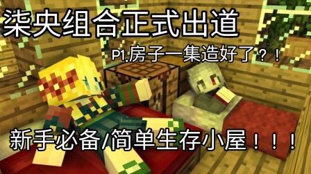 [柒柒]【MC我的世界】柒央组合正式出道P1.房子已造好!