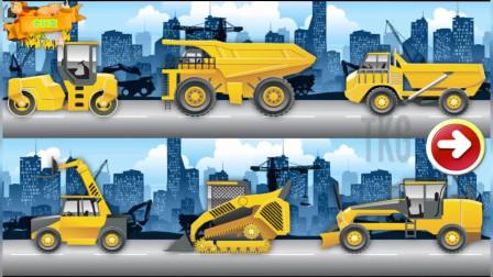 工程车垃圾清理车拼图组装 休闲益智游戏