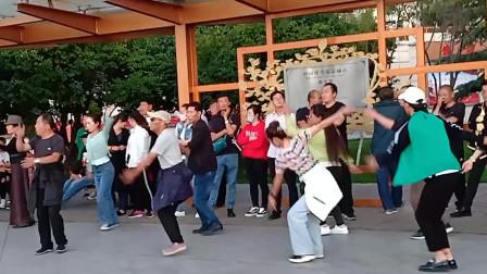 西宁中心广场藏族锅庄视频342《在路上》