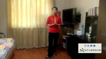 邱慧芳老师讲太极拳和太极剑的技术要领