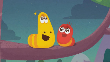 大黄小红为了看星星从树上掉了下来!爆笑虫子儿歌游戏