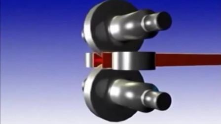 直观展示H型钢加工过程,原来是硬挤出来的,长见识了