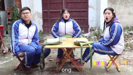 """田田的童年搞笑短剧:田田教小伙伴读""""汉语拼音表"""",大锤的发音总是不一样,太逗了"""