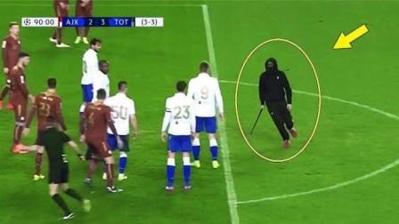 足球场上的不愉快事件,本以为是球迷要签名,没想到他拿着铁棍!