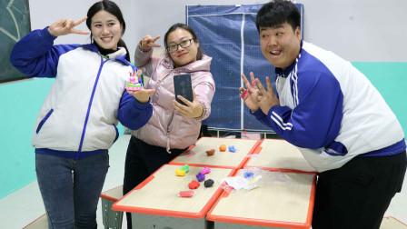 学霸王小九校园剧:老师想吃蛋糕,王小九竟想出用粘土做出了三层蛋糕,成品超级好看