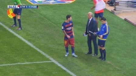 主教练一看不行了,马上换上梅西,直接改变局势