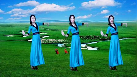 经典草原歌曲《美丽的草原我的家》天籁歌声优美舞蹈太美了