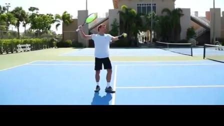 网球前场内旋发球