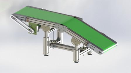 SolidWorks非标自动化教学第两百一十六课:可调高度皮带线如何设计?如何防止皮带跑偏打滑?