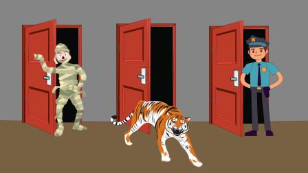 推理动画:你会选择哪一扇门逃生?