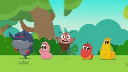 大黄小红的动物好朋友们一起玩耍!爆笑虫子早教儿歌 游戏