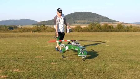 实拍大型RC直升机飞机表演,开始我还以为是真飞机呢
