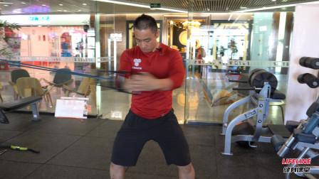 弹力绳十点到两点练习,稳固核心,增强转体运动能力
