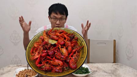 老婆上班辛苦,给她煮3斤麻辣小龙虾,这样吃得才过瘾