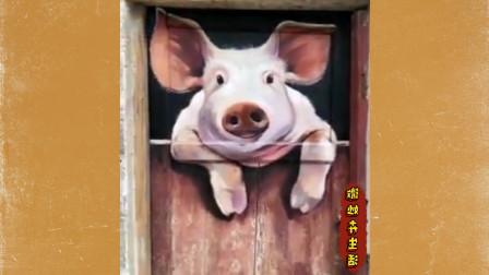 绘画高手在墙壁上画得出神入化 专业水平太牛了 网友纷纷点赞