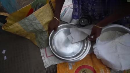 印度最火的早餐摊,前卫的烹饪手法,为了有利消化!