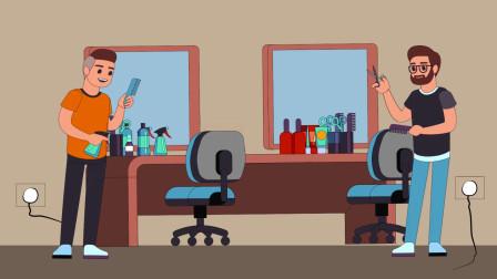 推理动画:这两个理发师当中,谁是机器人?