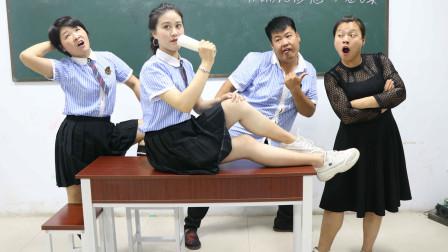 学霸王小九校园剧:老师选音乐课代表,学生一首改编版沙漠骆驼当了课代表,太有才了