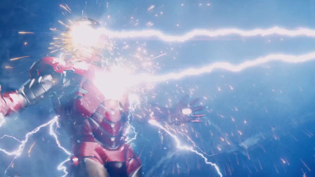 雷神大战钢铁侠,钢铁侠:没想到吧我能充电!