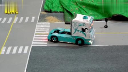 遥控玩具车模型,重型卡车模型,集装箱货车,挖掘机运输车