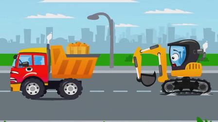 被橘子汁喷一脸的挖掘机一头撞上了电线杆子上!汽车总动员游戏