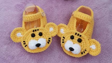第62集 大小宝手工 宝宝鞋婴儿鞋的钩法 视频教程