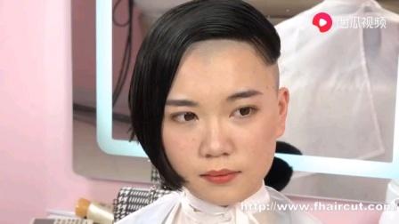 美女剃额头剃后脑勺