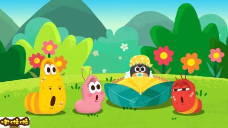 大黄和小红给小宝宝唱摇篮曲!爆笑虫子趣味英语早教儿歌