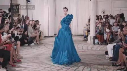 精致时尚 服饰 蓝色系秀 静谧幽深的海底盛宴  蔚蓝色系 高定 礼服合集