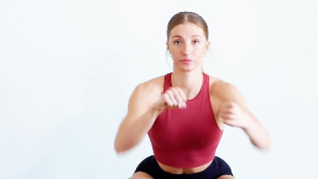 健身小课堂:拳击下蹲