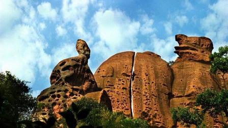 江西弋阳龟峰风景名胜区-天然盆景,世界自然遗产,世界地质公园