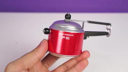 太牛了,仅用易拉罐就做成了,一个迷你电饭锅