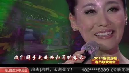 谭晶演唱歌曲《共和国的春天》,中华儿女远航扬帆!