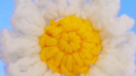 小清新钩针花朵的简单钩织教程