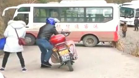 广东客车司机,我觉得那摩托车司机的技术都比你好。
