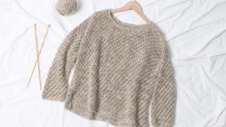 棒针编织缕空薄款  套头个性毛衣 《苏醒》  1 后片