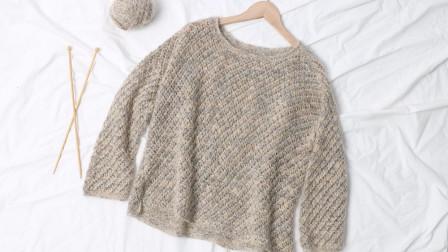棒针编织缕空薄款  套头个性毛衣 《苏醒》  2