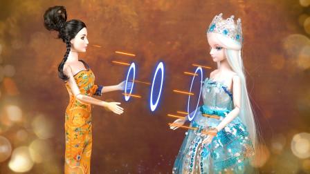 叶罗丽娃娃故事:罗丽和亮彩一起梦到冰公主,被曼多拉吸走仙力