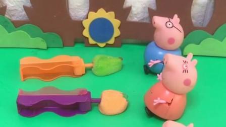 给小猪一家分糖果吃了,大家的都这么好看,乔治的怎么什么都没有呢