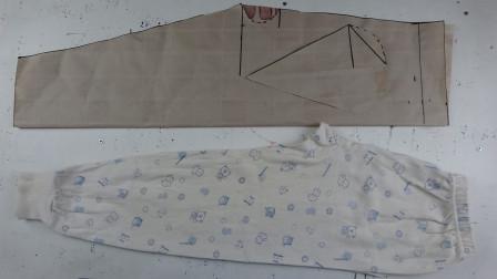 儿童补裆秋裤的裁剪方法