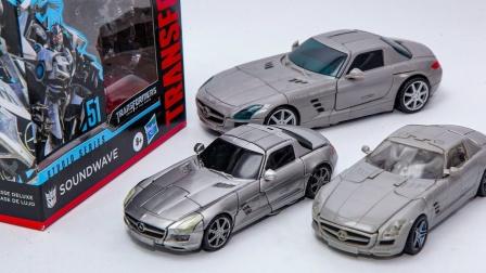 变形金刚电影 系列豪华声波奔驰车辆汽车机器人玩具