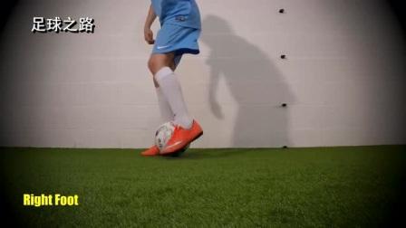 足球青训丨快速步法训练之钟摆身后拨球