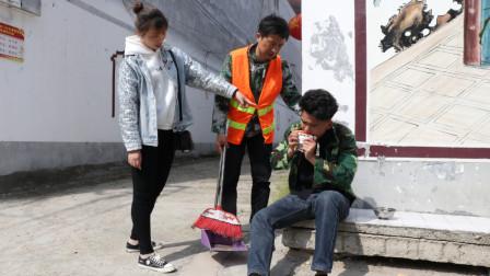 自制剧:清洁工好心帮助生病乞丐,3年后他患重病,乞丐送来50万