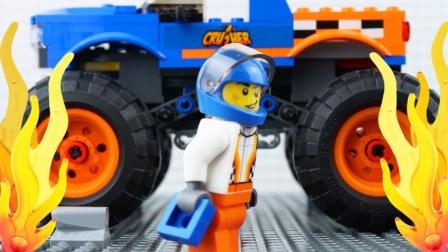乐高城市怪物卡车失败停止运动怪物卡车砖块建筑#通过乐高世界.